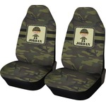 Green Camo Car Seat Covers (Set of Two) (Personalized)