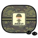 Green Camo Car Side Window Sun Shade (Personalized)