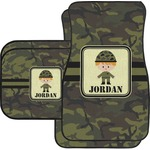 Green Camo Car Floor Mats (Personalized)