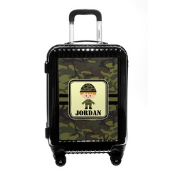 Green Camo Carry On Hard Shell Suitcase (Personalized)