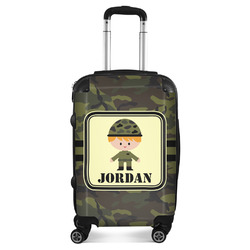 Green Camo Suitcase (Personalized)