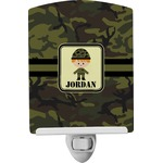 Green Camo Ceramic Night Light (Personalized)