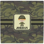 Green Camo Ceramic Tile Hot Pad (Personalized)