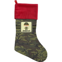 Green Camo Christmas Stocking (Personalized)