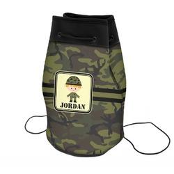 Green Camo Neoprene Drawstring Backpack (Personalized)