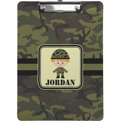 Green Camo Clipboard (Personalized)