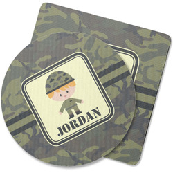 Green Camo Rubber Backed Coaster (Personalized)