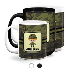 Green Camo Coffee Mugs (Personalized)