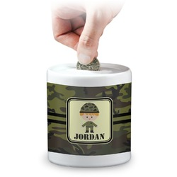 Green Camo Coin Bank (Personalized)