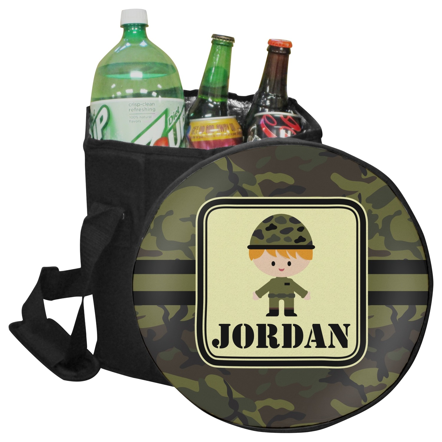 Green Camo Collapsible Cooler Amp Seat Personalized Youcustomizeit