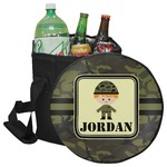 Green Camo Collapsible Cooler & Seat (Personalized)
