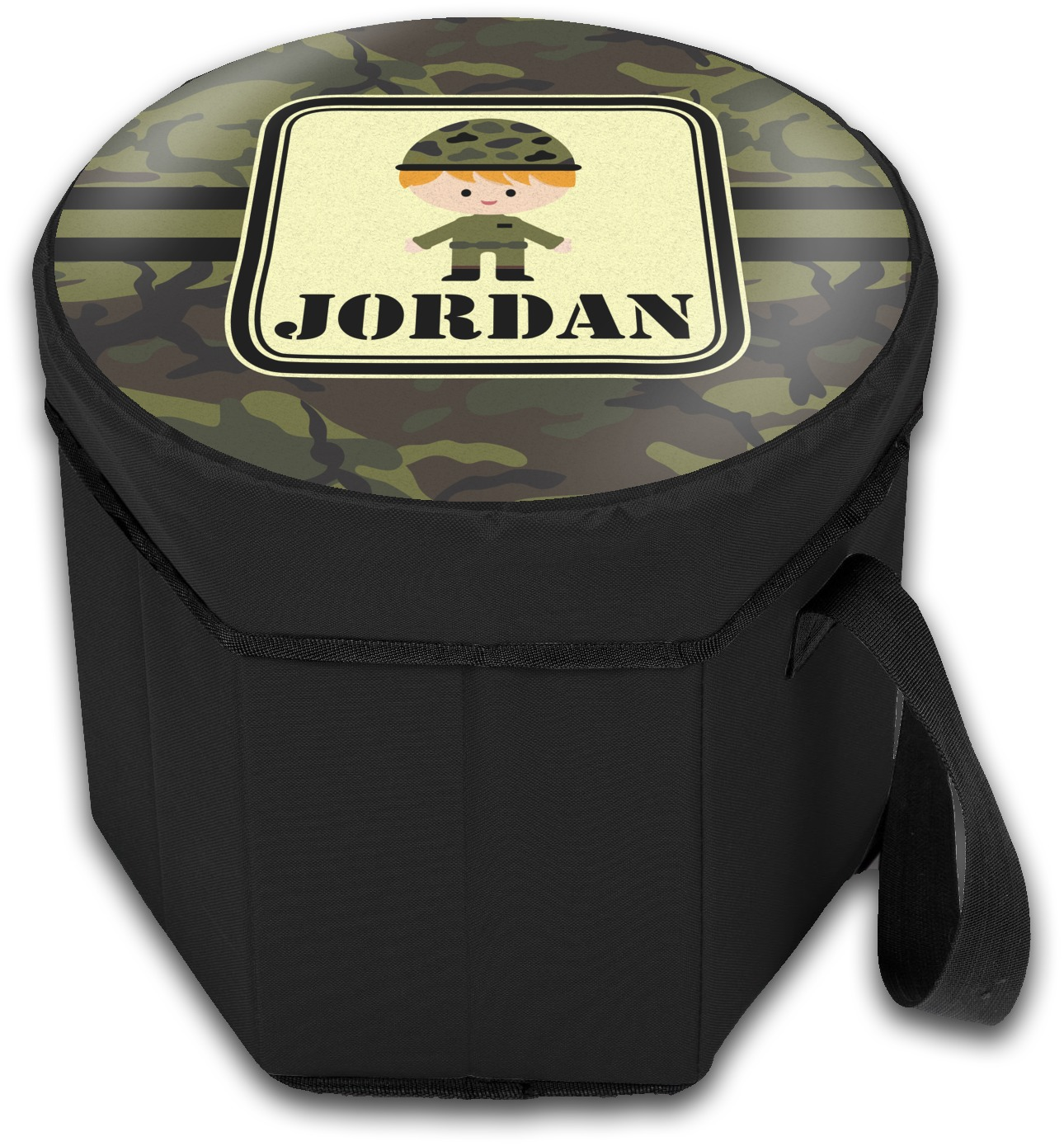 Green Camo Collapsible Cooler Amp Seat Personalized
