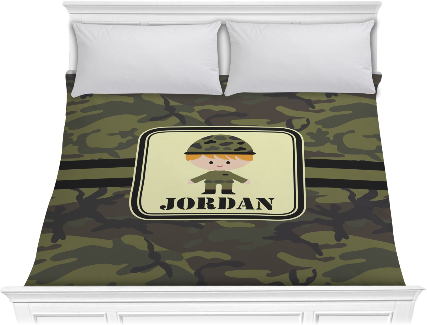 Green Camo Comforter King Personalized Rnk Shops