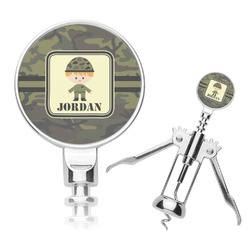 Green Camo Corkscrew (Personalized)