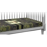 Green Camo Crib Fitted Sheet (Personalized)