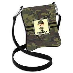 Green Camo Cross Body Bag - 2 Sizes (Personalized)