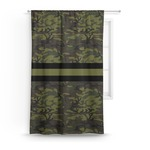 Green Camo Curtain (Personalized)