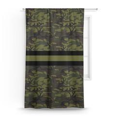 Green Camo Curtain (Personalized)
