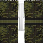 Green Camo Curtains (2 Panels Per Set) (Personalized)