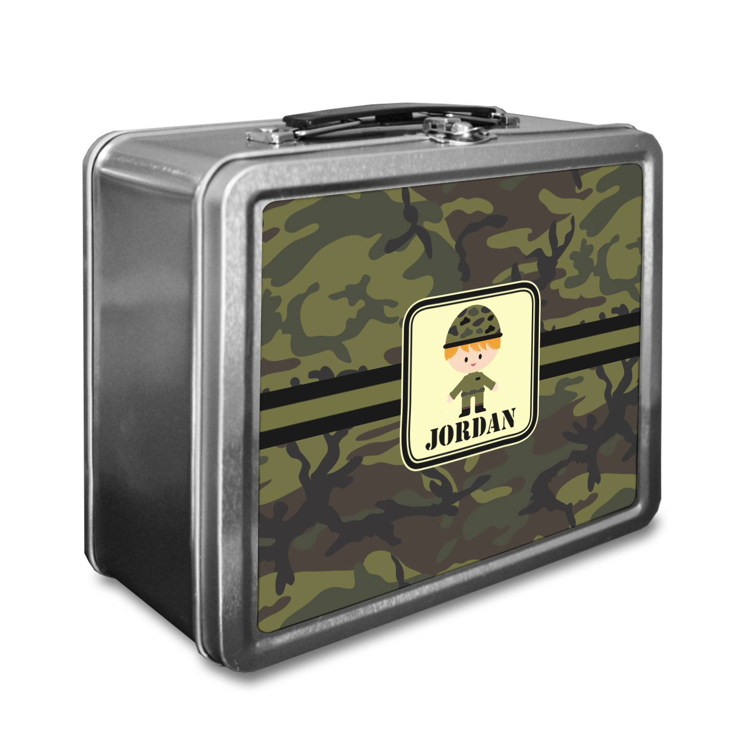 green camo lunch box personalized youcustomizeit