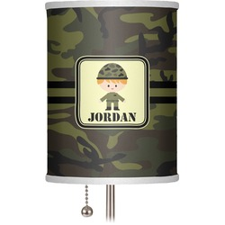 "Green Camo 7"" Drum Lamp Shade (Personalized)"