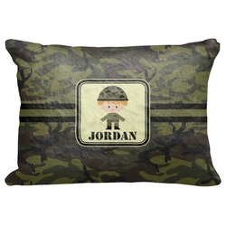 "Green Camo Decorative Baby Pillowcase - 16""x12"" (Personalized)"