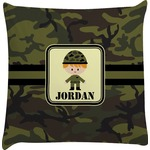 Green Camo Decorative Pillow Case (Personalized)