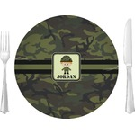 Green Camo Glass Lunch / Dinner Plates 10