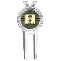 Green Camo Golf Divot Tool & Ball Marker (Personalized)