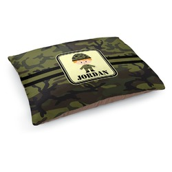 Green Camo Dog Bed (Personalized)