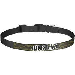 Green Camo Dog Collar - Large (Personalized)