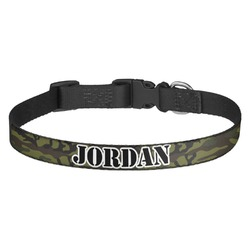 Green Camo Dog Collar - Multiple Sizes (Personalized)