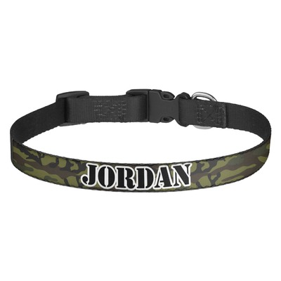 Green Camo Dog Collar (Personalized)