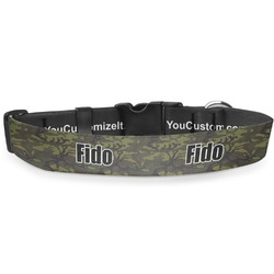 Green Camo Deluxe Dog Collar (Personalized)