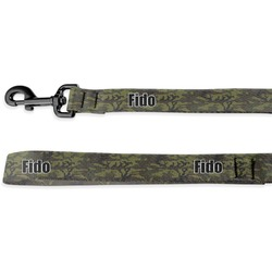 Green Camo Deluxe Dog Leash (Personalized)