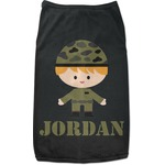 Green Camo Black Pet Shirt (Personalized)
