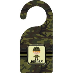 Green Camo Door Hanger (Personalized)