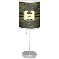"Green Camo 7"" Drum Lamp with Shade (Personalized)"