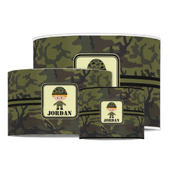 Green Camo Drum Lamp Shade (Personalized)