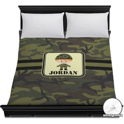 Green Camo Duvet Cover (Personalized)