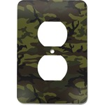 Green Camo Electric Outlet Plate (Personalized)