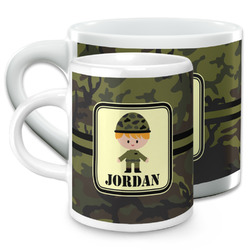 Green Camo Espresso Cups (Personalized)