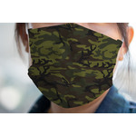 Green Camo Face Mask Cover (Personalized)
