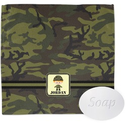 Green Camo Wash Cloth (Personalized)