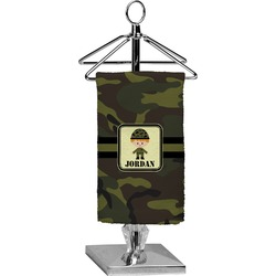 Green Camo Finger Tip Towel - Full Print (Personalized)