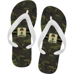 Green Camo Flip Flops (Personalized)
