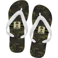 Green Camo Flip Flops (Personalized)