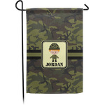 Green Camo Garden Flag (Personalized)