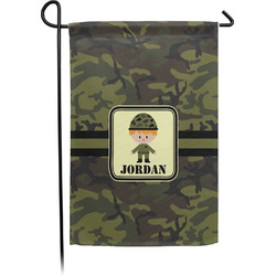 Green Camo Garden Flag - Single or Double Sided (Personalized)