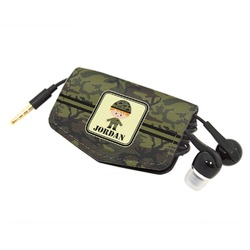 Green Camo Genuine Leather Cord Wrap (Personalized)